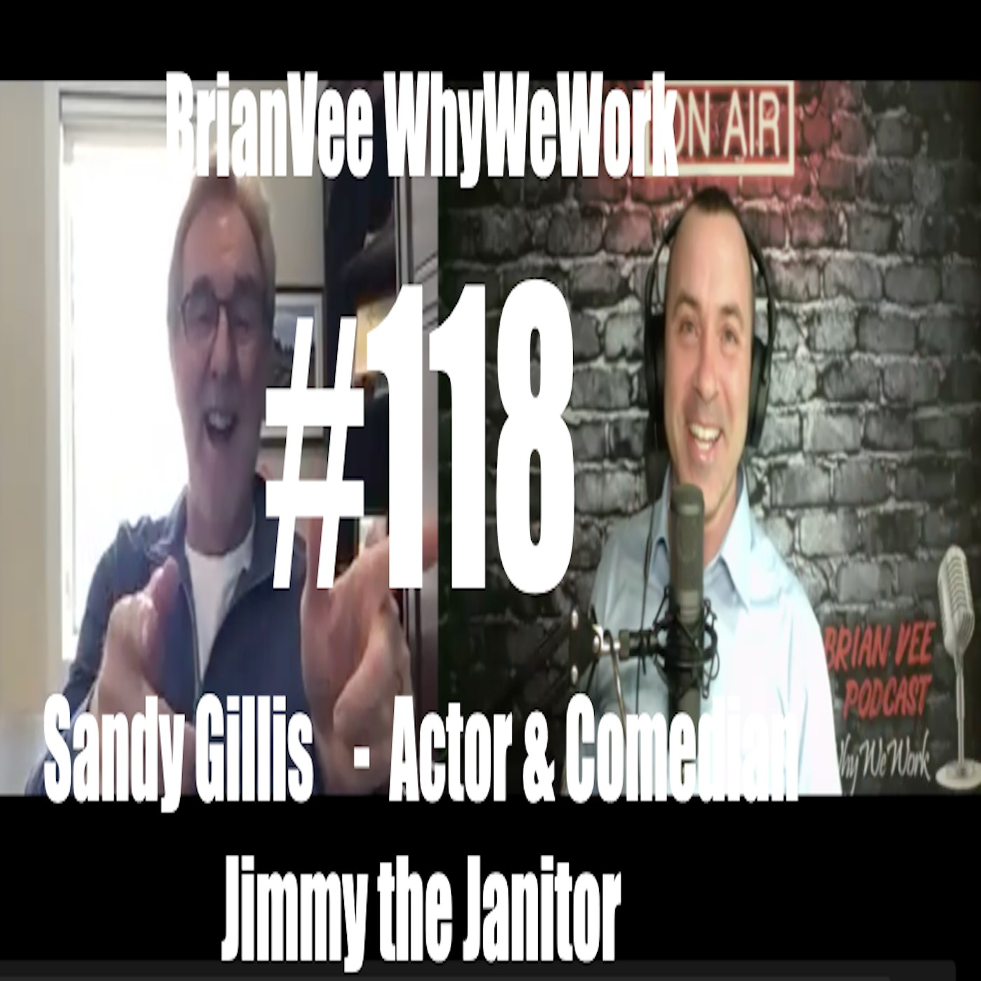 #118 Sandy Gillis Comedian Jimmy the Janitor BrianVee WhyWeWork