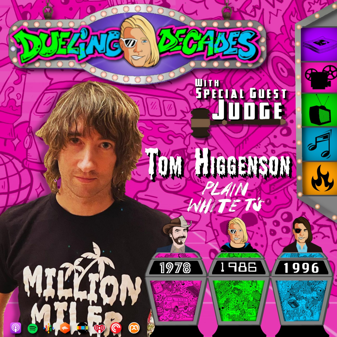 Taking a Million Miler with Tom Higgenson of the Plain White Ts in this battle between 1978, 1986, & 1996!