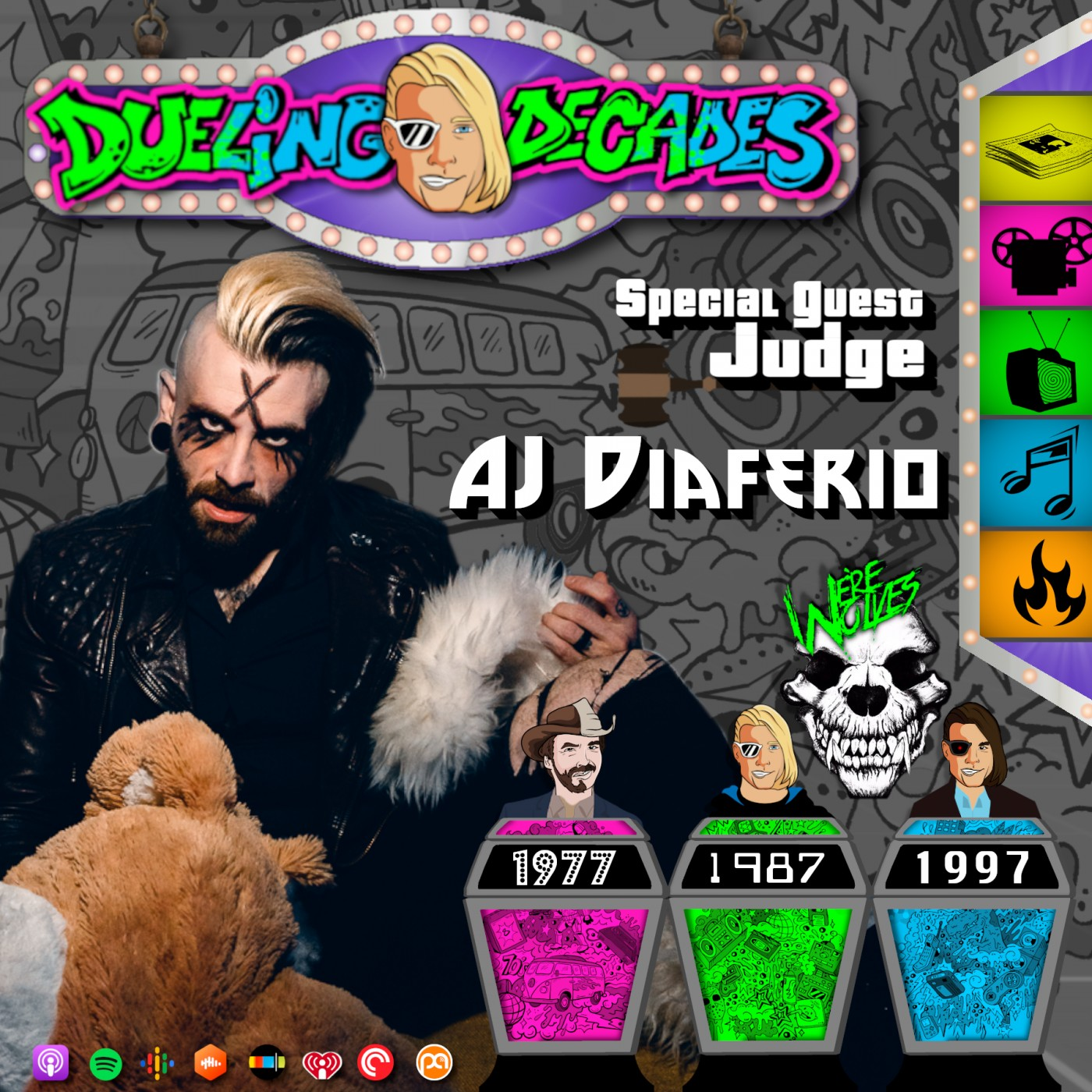 AJ Diaferio frontman of We're Wolves judges this horror showdown between 1977, 1987 & 1997!
