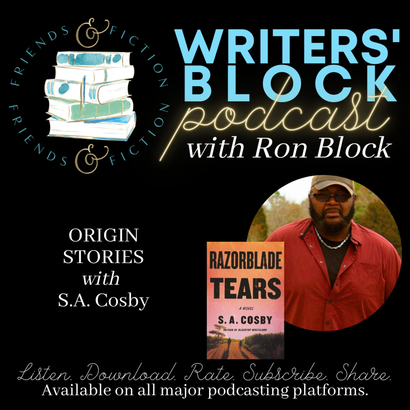 WB S1E13: Ron Block with Kristin Harmel with S.A. Cosby