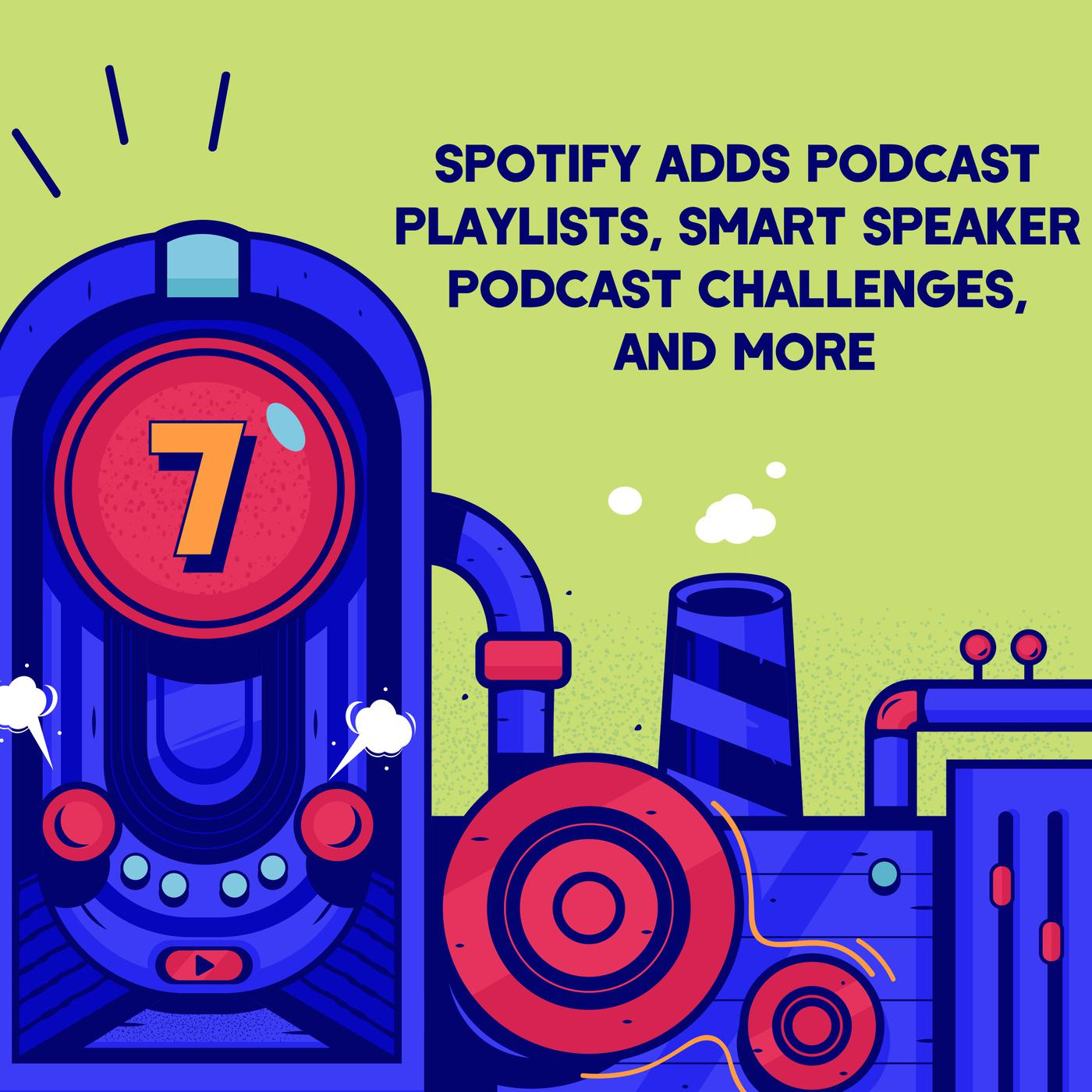 Episode 7 (TWIP) - Spotify Adds Podcast Playlists, Smart Speaker Podcast Challenges, and More.